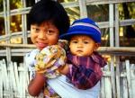 Sister and Brother  Mingun, Myanmar