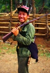 Hmong Man With flintlock rifle Northern Laos