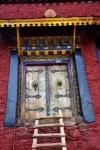 Tibet, Doorway, Ganden Monastery
