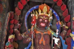 The Gyantse Kumbum is full of paintings and statues of Buddhist deities. Gyantse, Tibet
