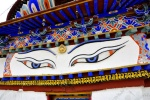 Tibet - the eyes of Buddha atop the Gyantse Kumbum.