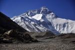 Mount Everest, called Qomolangma in Tibetan, from the north side, Tibet