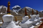 The north face of Mt. Kailash from the Dira-puk Monastery, western Tibet