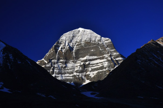 The spectacular north face of Mt. Kailash, western Tibet