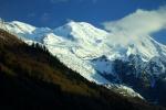 Mt. Blanc, Europe's highest peak, from Chamonix, France