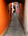 Steep 'street' in Varenna village. Lake Como, Italy