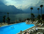 Lake Como from Bellagio resort hotel, Italy