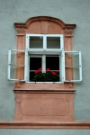 Begonias in window, Graz, Austria