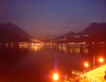 Night falls over Lake Como from Varenna, Italy