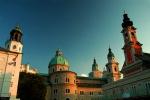 Austria, Church spires and castle, Salzburg