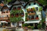 Houses on square, Hallstadt, Austria