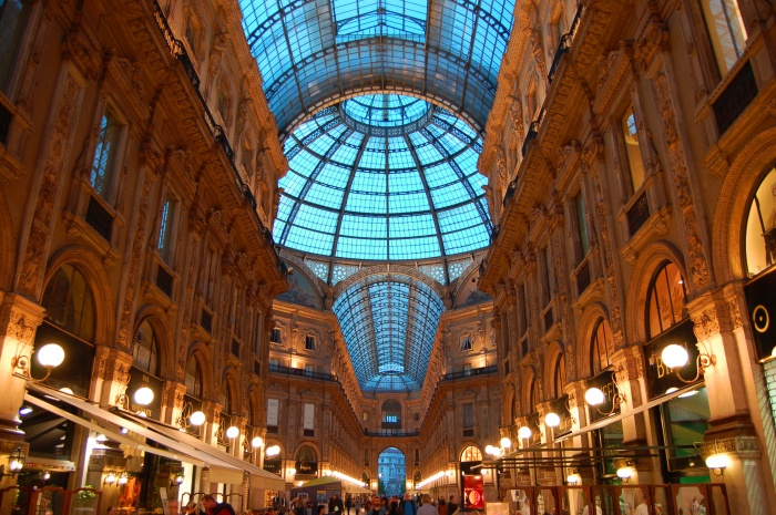 Milan's Galleria covered shopping mall is the world's oldest,, built in 1878.