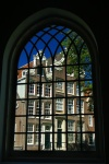 View from Begijnhof Presbyterians Church window, Amsterdam, Netherlands