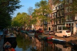 Afternoon on quiet canal, Amsterdam, Netherlands