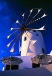 Windmill, Oia village Santorini Island Greece