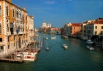 Grand Canal from Academy Bridge, Venice, Italy